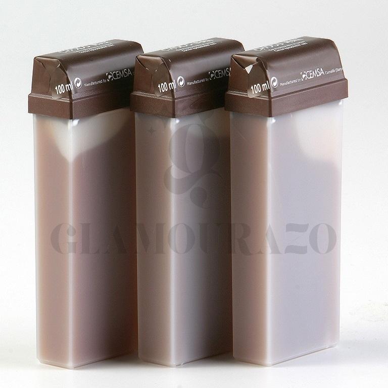 CARTUCHO CERA TIBIA CHOCOLATE ROLLON 110 ML._1